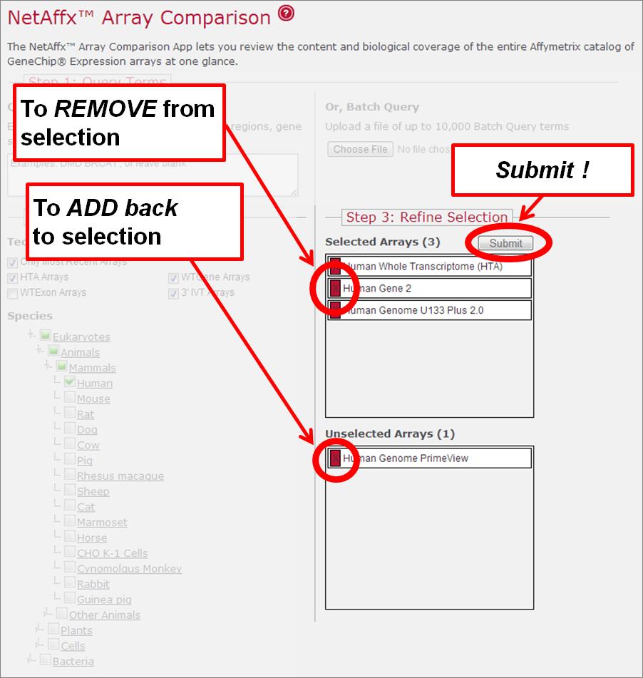 Affymetrix Expression Array Comparison Help